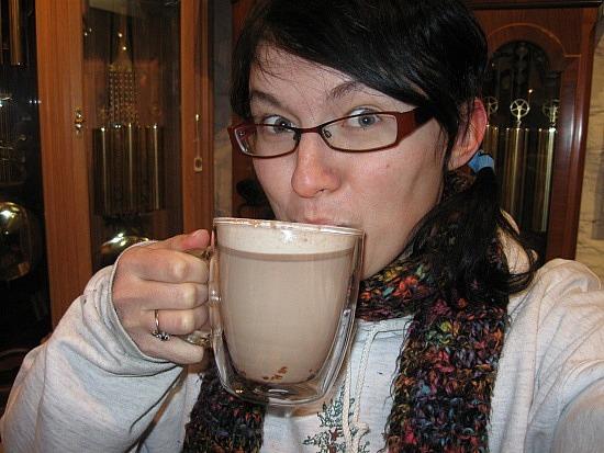 Me vs. hot chocolate w/ kirsch
