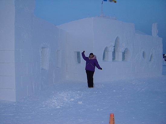 Me vs. snow castle