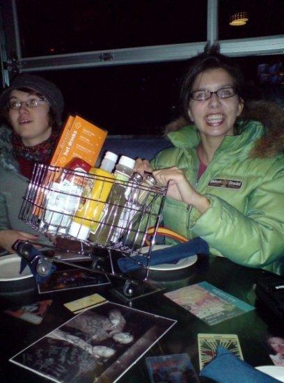 Lisa and shopping cart