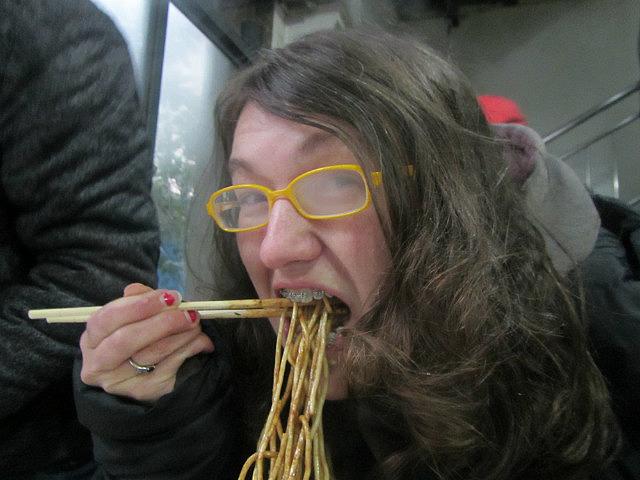 Me vs. dry hot noodles