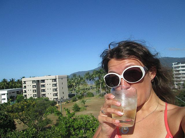 Me vs. wine on the balcony