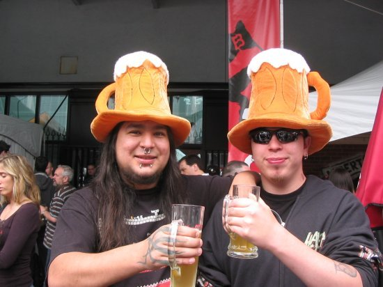 Beer hat guys