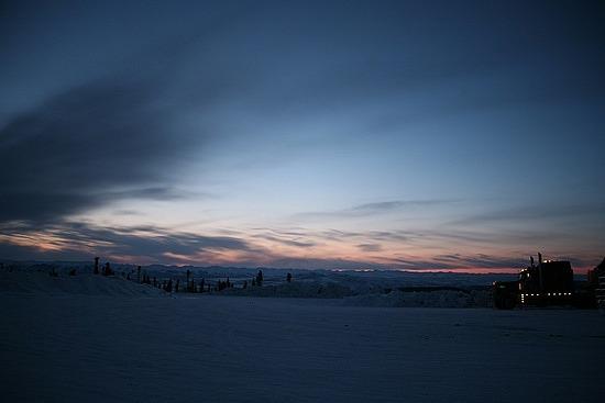 Sunrise at Eagle Plains