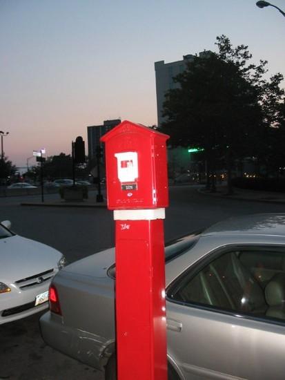 Interesting fire alarm on the street, Providence