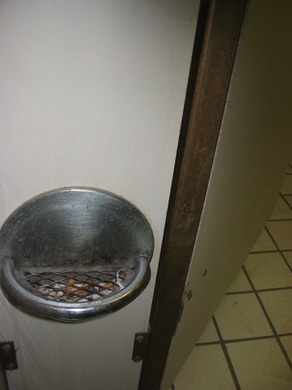 Ashtray in bathroom