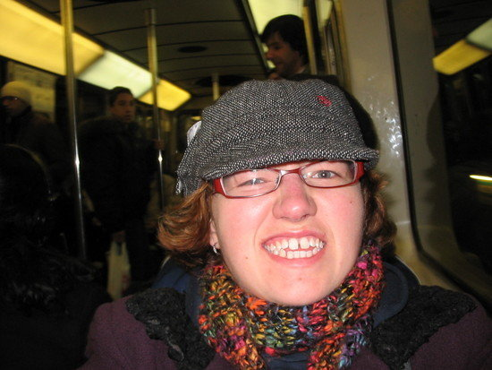 Me on the subway, angry at my failing health