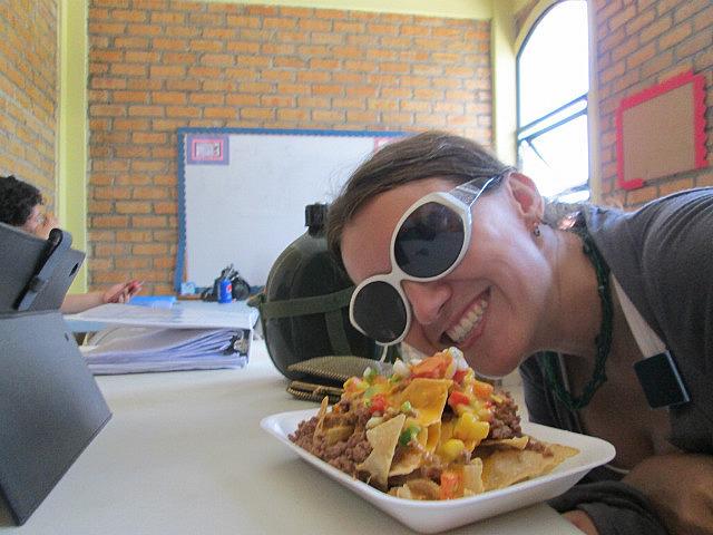 Me vs. nachos at school