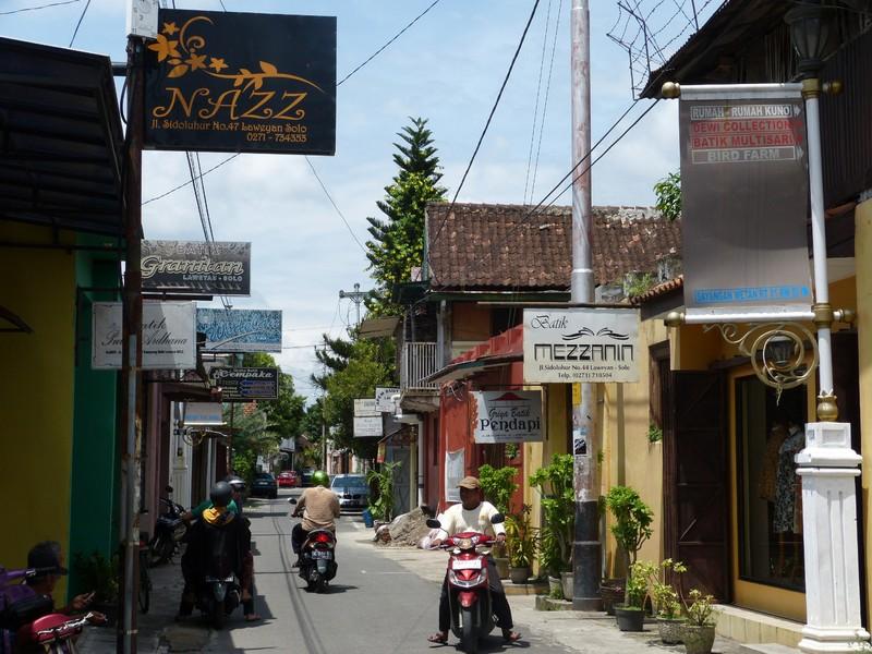 A street in Kampoeng Batik Laweyan