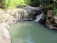 Singsing falls, highest pool