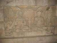 Relief inside Plaosan Monastery