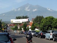 Mount Merbabu view from town square