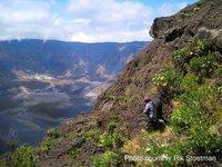 Descent into Tambora crater