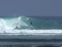 Surfer at G-land