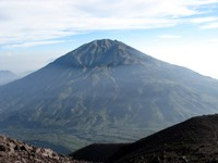 Mount Merbabu seen from Merapi volcano