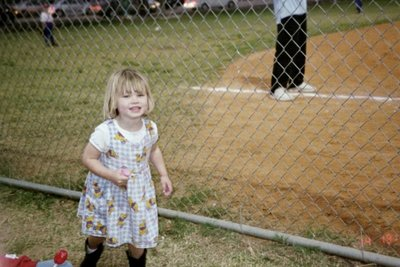 granddaughter at her brother's game