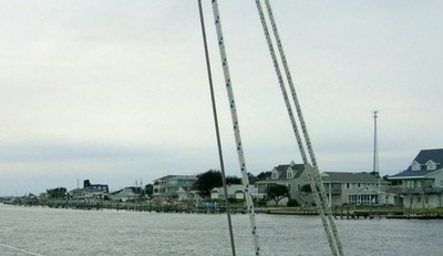 South of town on Bogue Sound