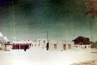 Overexposed photo of the pueblo