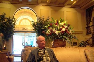 Bob waiting in the lobby