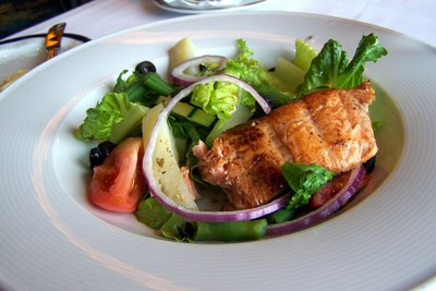 Salad Nicoise with Grilled Salmon