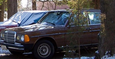 My Mercedes 1984 300D (last winter)