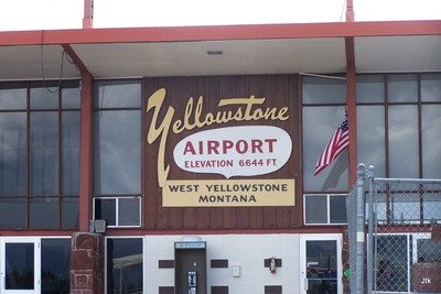 J's photo of the Yellowstone Airport