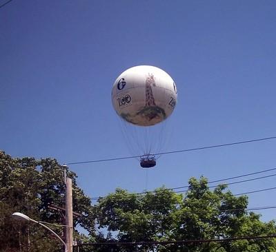Balloon over the Philadelphia zoo