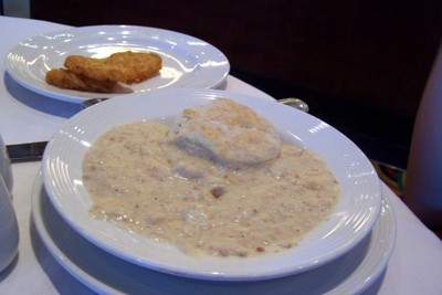 Biscuits, with Sausage (?) Gravy