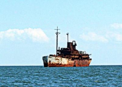 Old Hannibal Target Ship