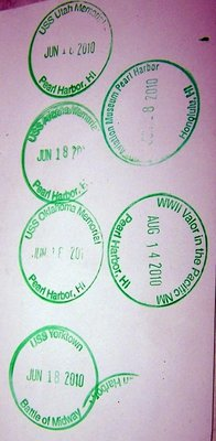 Stamps in the NP Passport