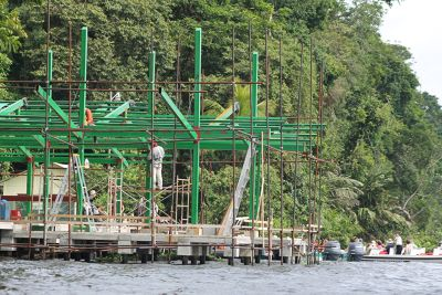 Building the new park entrance
