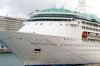 Enchantment of the Seas at the next dock