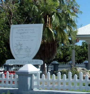 Lester Williams Community Park sign - Grand Turk