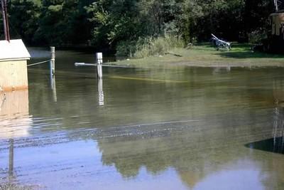 Haul slip is under water