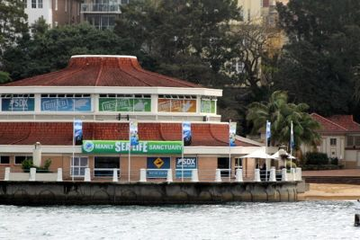 Sign says Manly Sealife Sanctuary