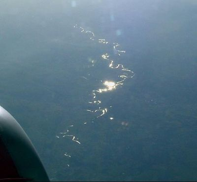 Rivers glinting in the sun - 2:17 am EDT i.e. our time