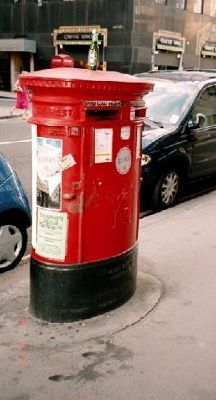 Red Post Box in London
