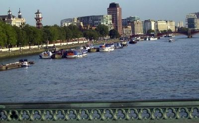 Barges on the Thames - London