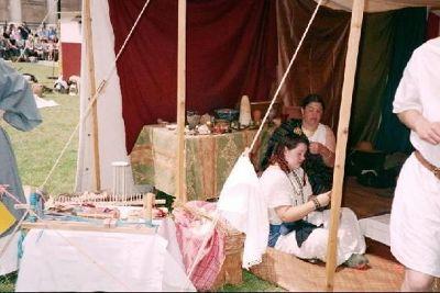 Women re-enacting Roman crafts