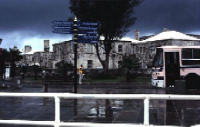 Bus stop at the Dockyard in 1995