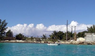 Fishermen and south end of the island