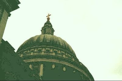 Dome of St. Paul's from the bus