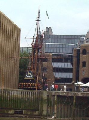 The Golden Hinde from the Thames