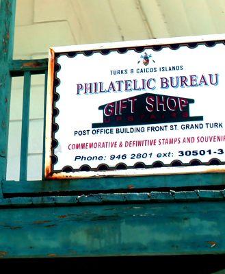 Philatelic Bureau and gift shop sign