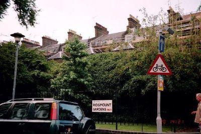 Backs of buildings on Gower St