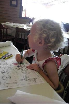 Granddaughter with crayons