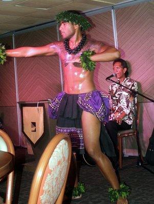 Uke player and male dancer
