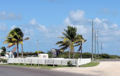 Entrance to the airport from the road - Grand Turk