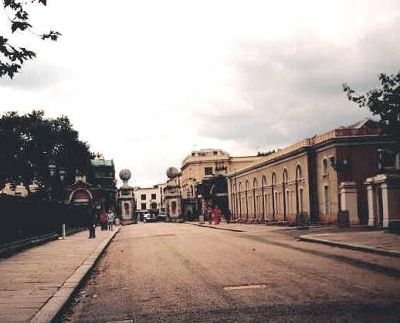 The street in front of the museum