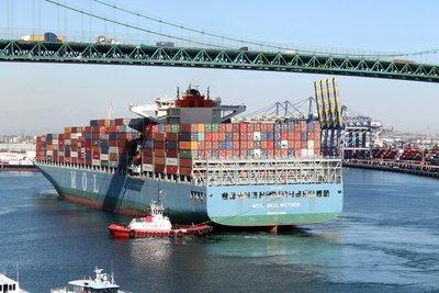 tug and cargo ship