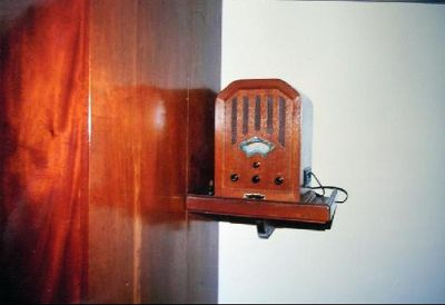 Wardrobe and radio - Barbados